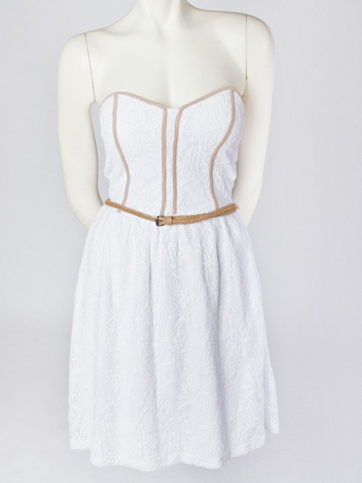 Lace Corset Belted Dress - Casual - Dresses $37 (i saw this in the store and...it's actually kinda cute)