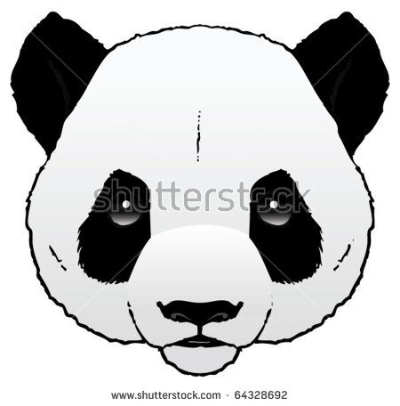 A Hand Drawn Ink Vector Of A Panda S Head Panda Dessin Dessin