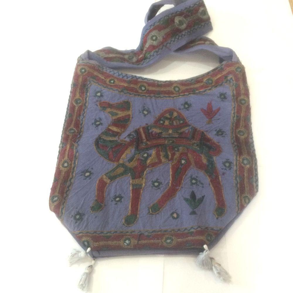 Bongojazz Designer Bag From India Beach/Shopping Ethnic Tribal Boho Hippy Camel
