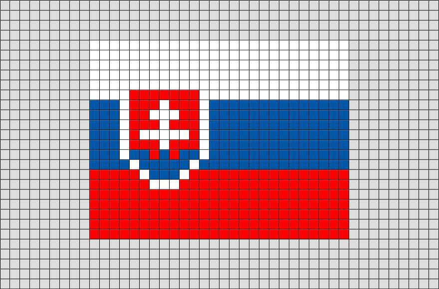Flag Of Slovakia Pixel Art Pixel Art Drapeau Et Dessin Pixel