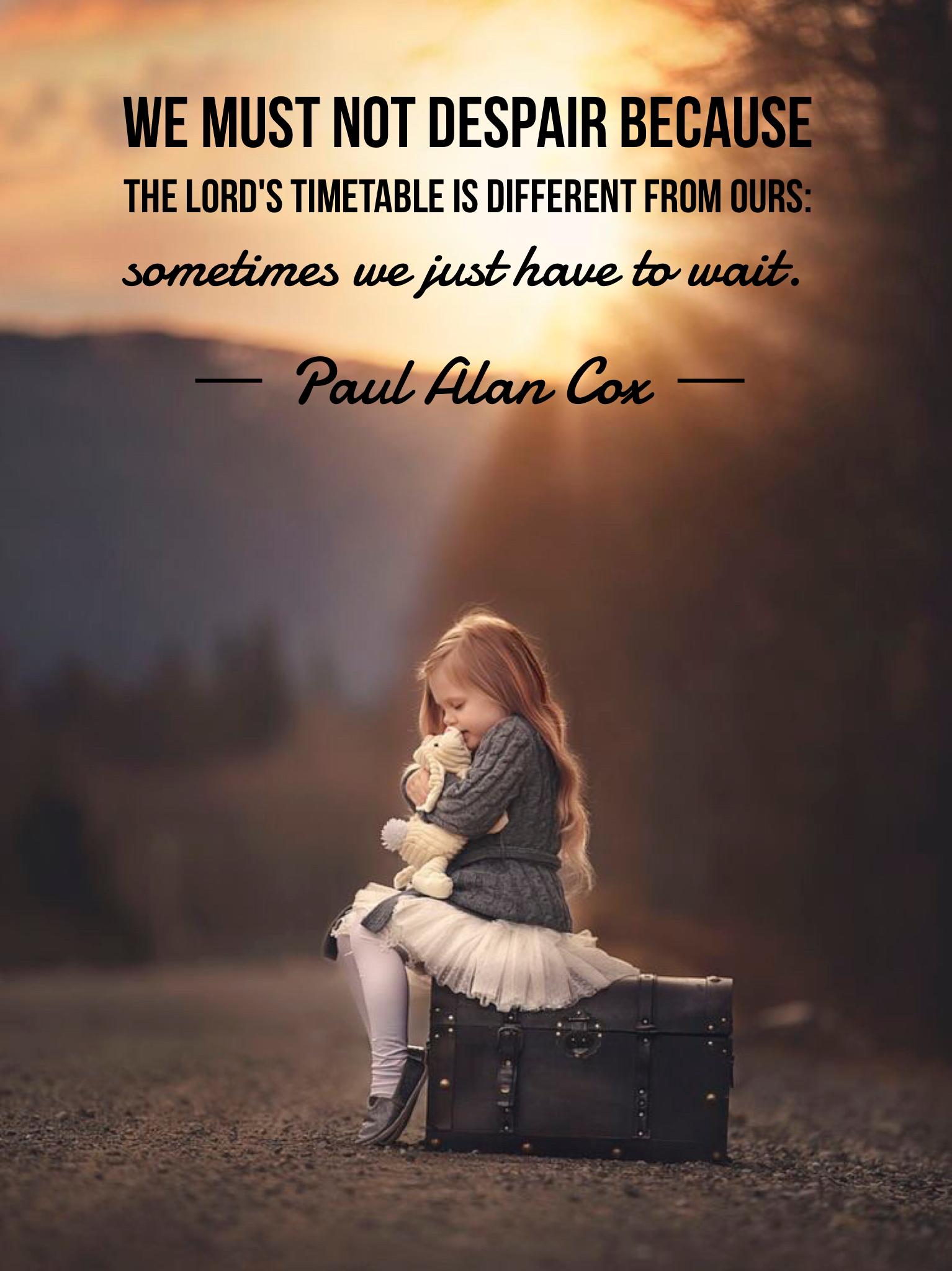 #ldsquotes #byudevo #patience #wait #bestill #longsuffering #timing #lds We must not despair because the Lord's timetable is different from ours: sometimes we just have to wait.