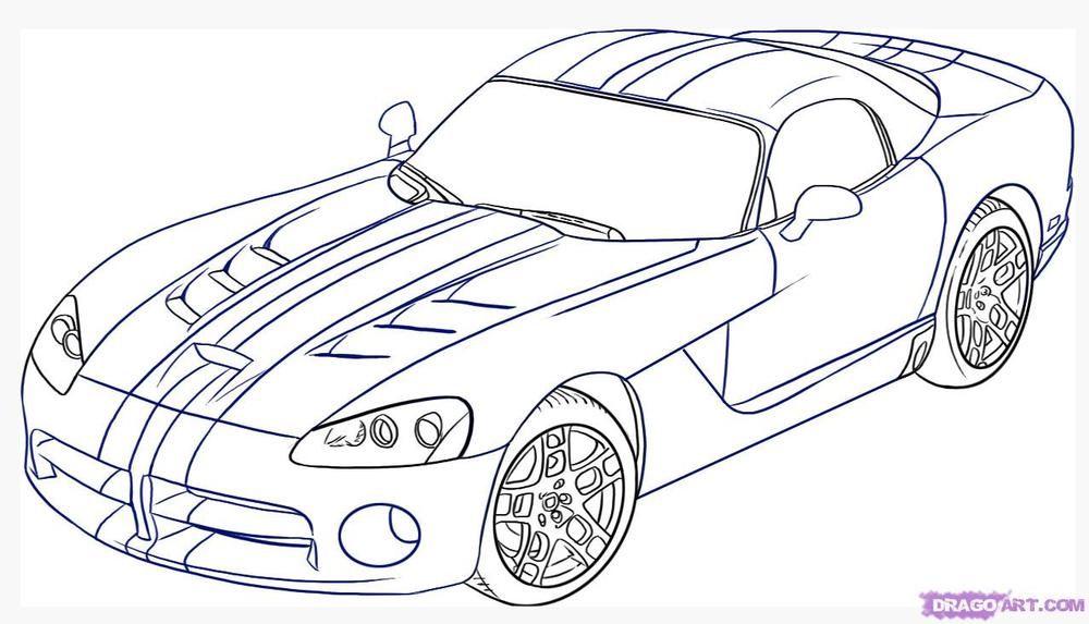 Realistic Race Car Car Coloring Pages