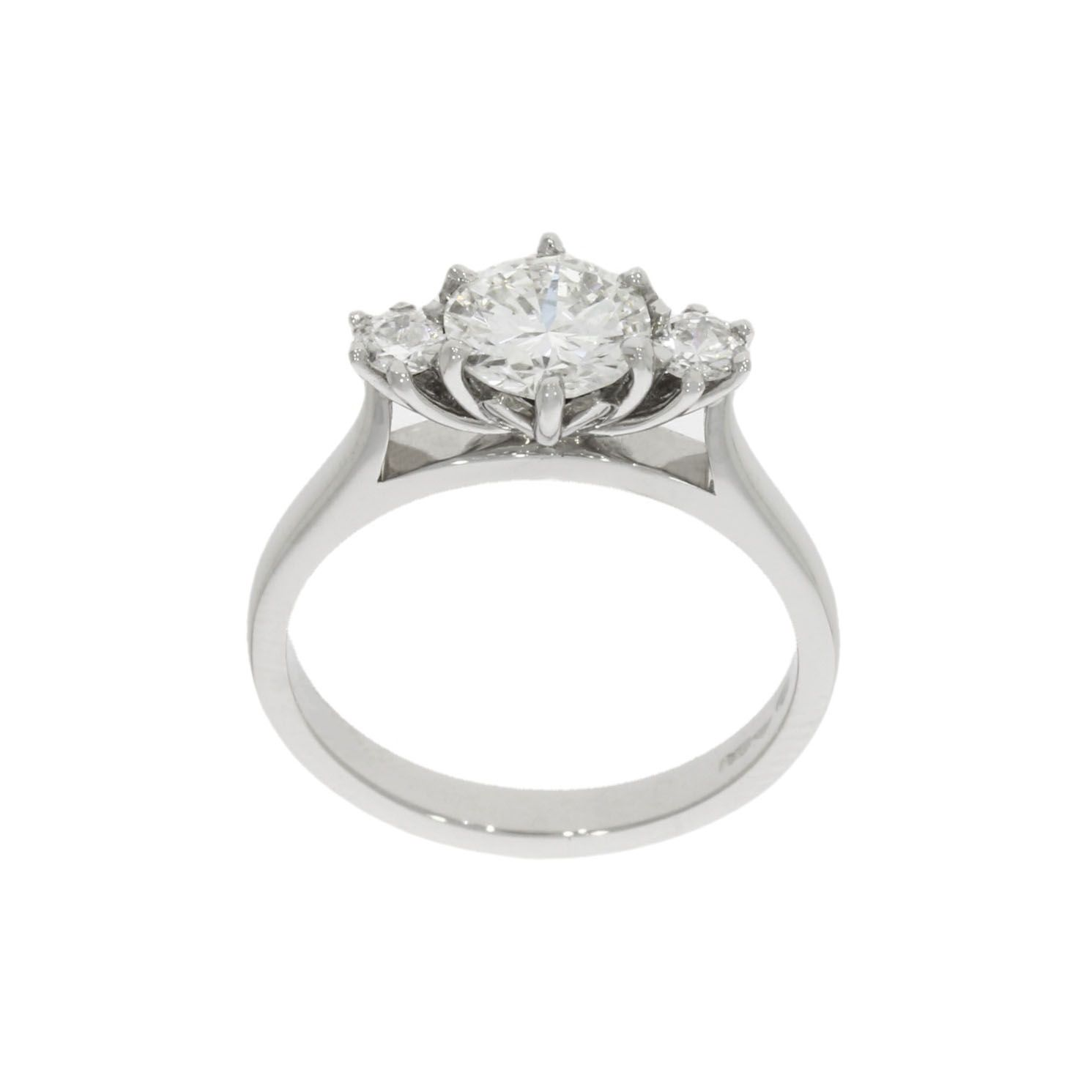 Platinum Protea Flower Engagement Ring Engagement Rings Rings Engagement