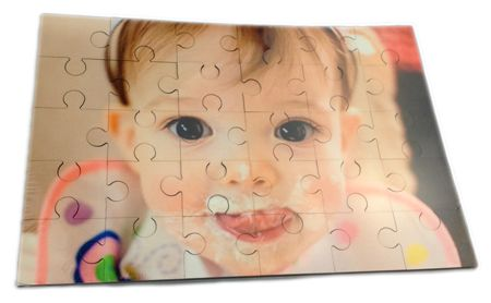Customize the special jigsaw puzzle with your little boy or girl's photo. It will be the perfect gift for your little boy or girl.