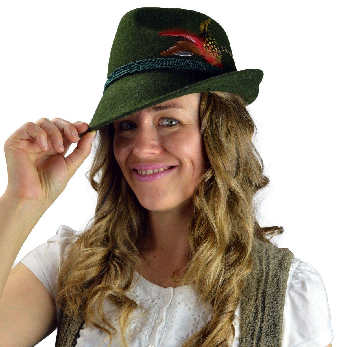 Oktoberfest Hat Green Biaritz Alpine German Large!