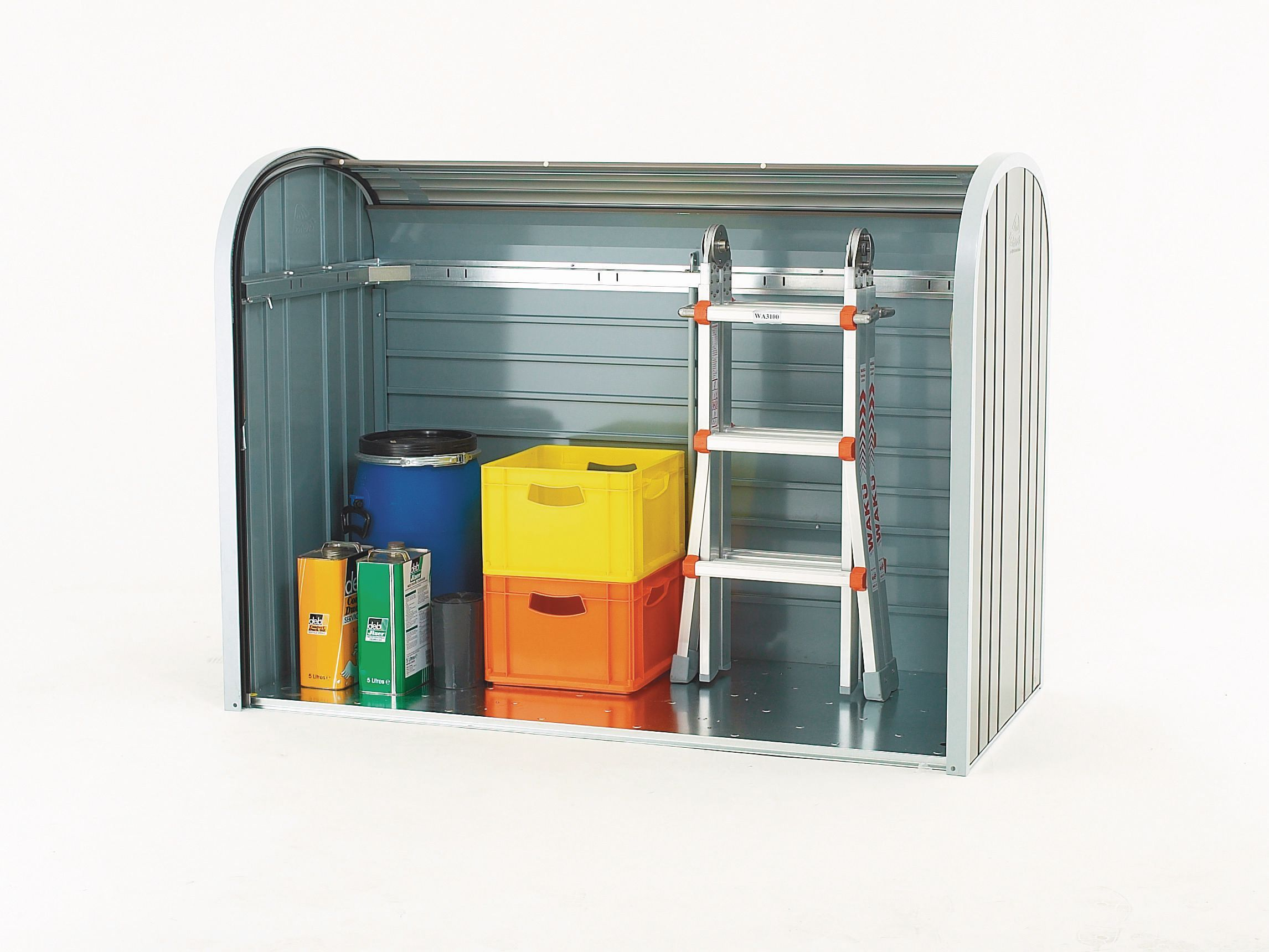 Aluminium roller shutter storage shed Sheds Outdoor Storage