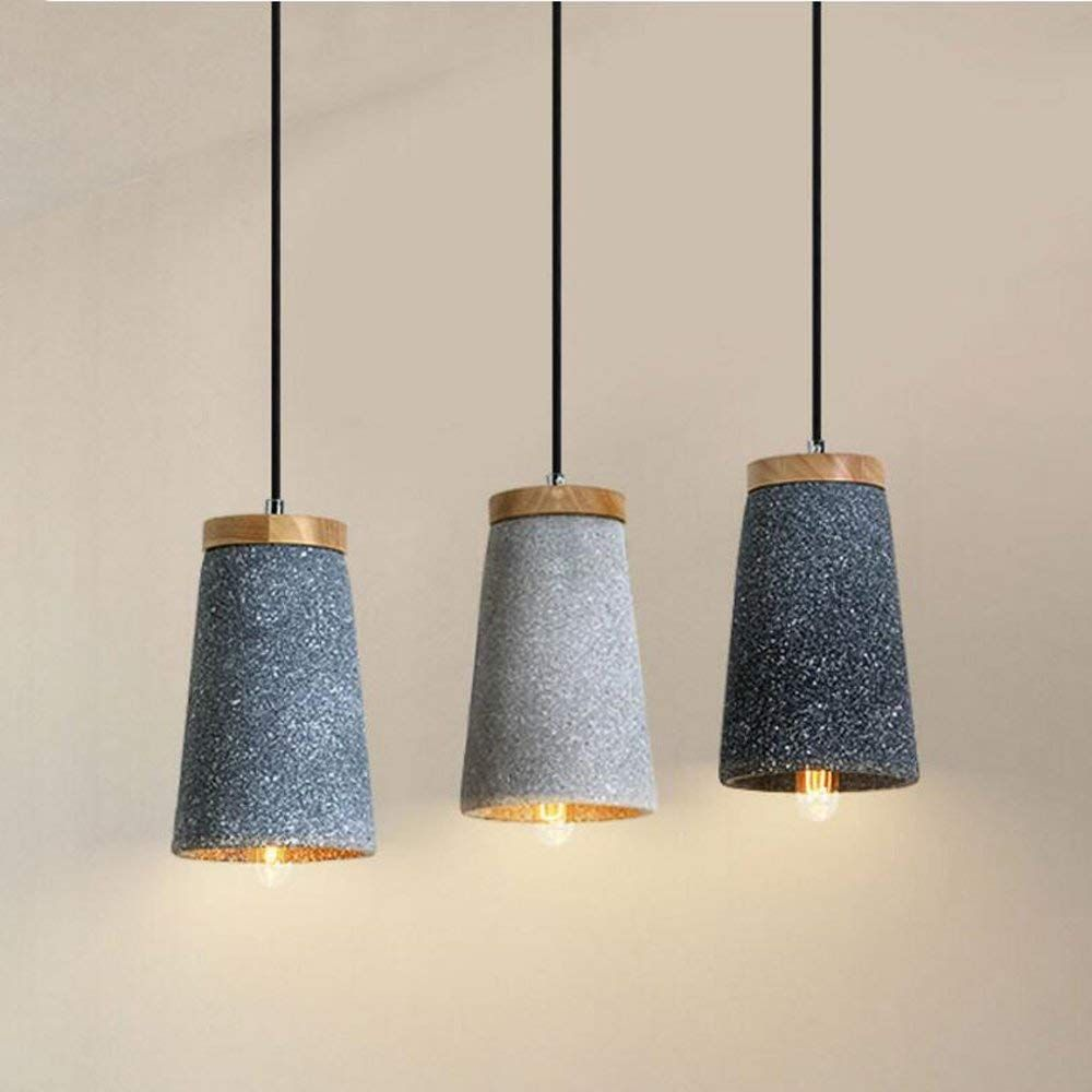 Yjlight Suspension Suspension Eclairage Lampe Moderne Ciment Beton