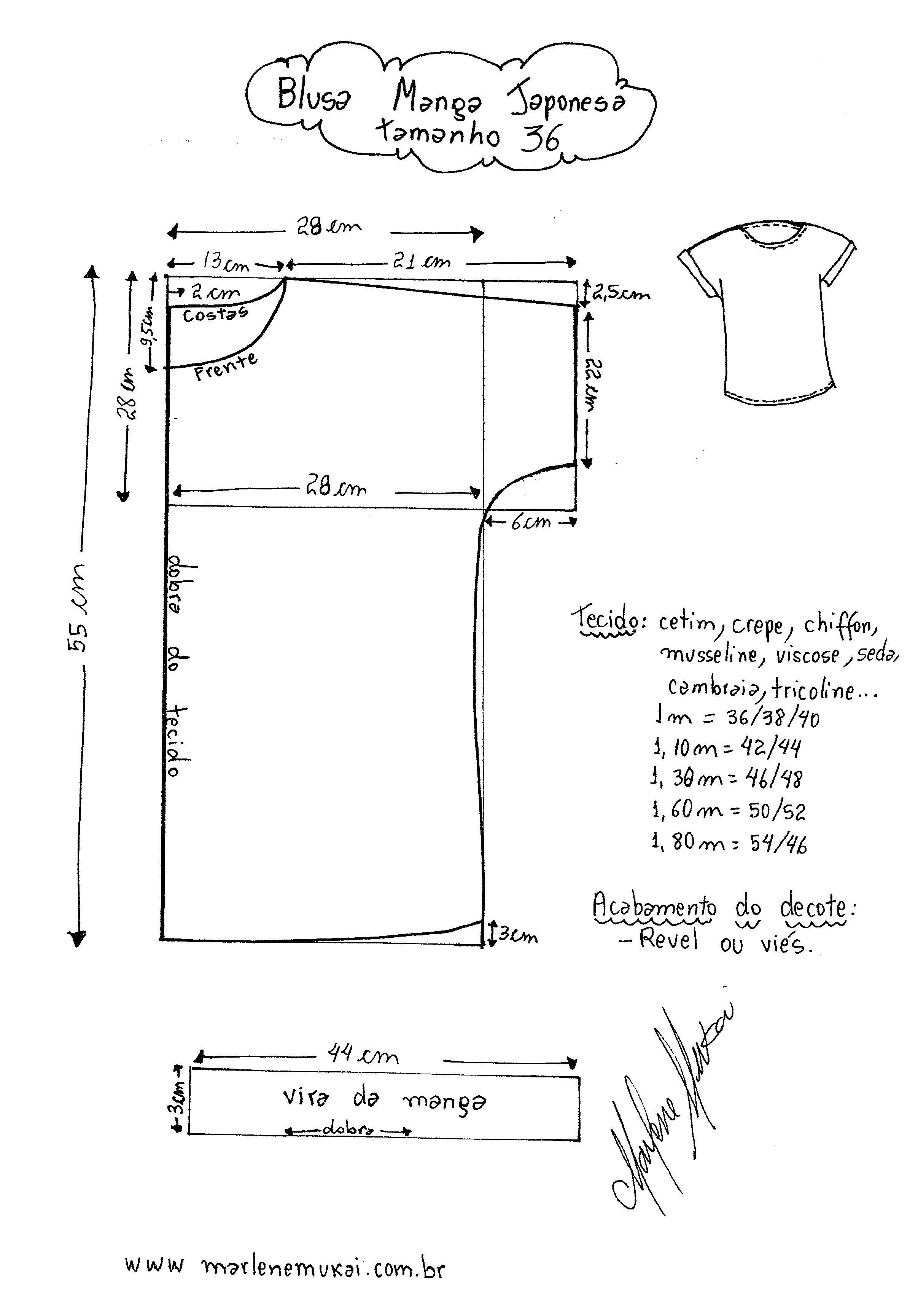 Einfacher Blusen/Shirt schnitt