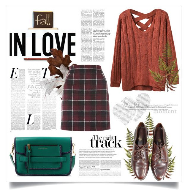 """""""AUTUMNISH"""" by virgamaleva ❤ liked on Polyvore featuring WithChic and Marc Jacobs"""