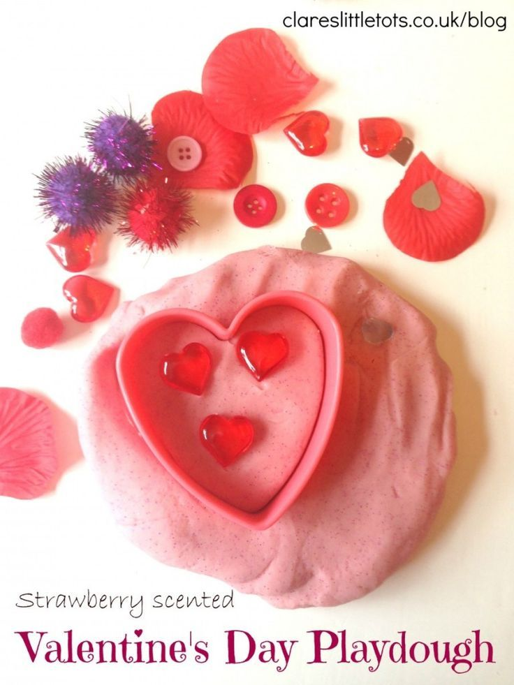 valentine's day playdough, Ideas