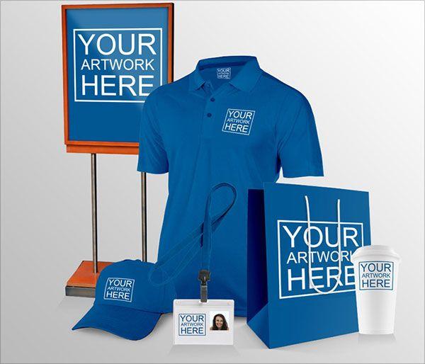 Free-T-shirt-Cap-Shopping-bag-ID-Card-Mockup-PSD Graphic Design - id card psd template