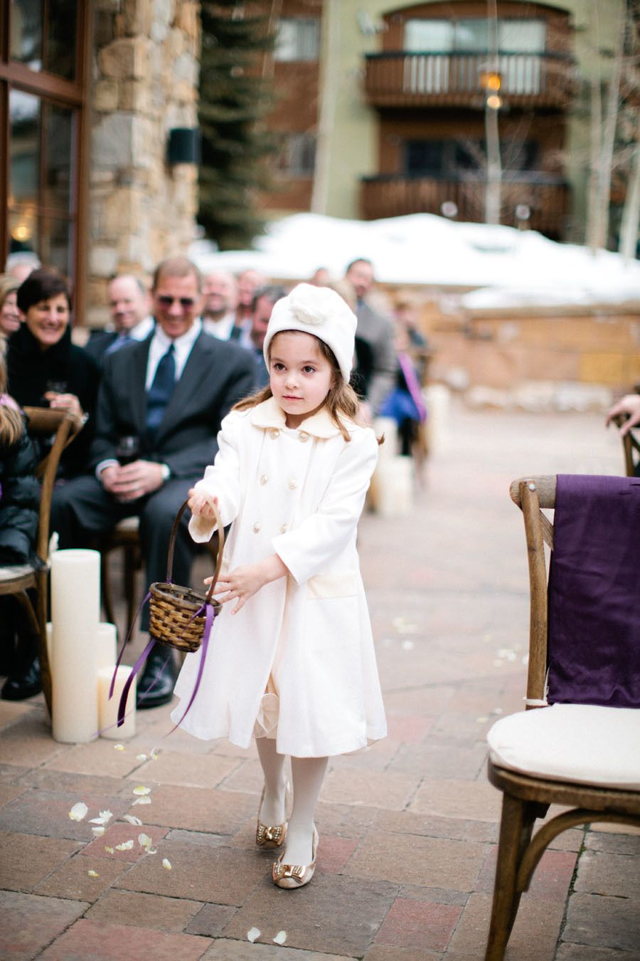 Elegant winter wedding in vail at the sebastian beautiful textures