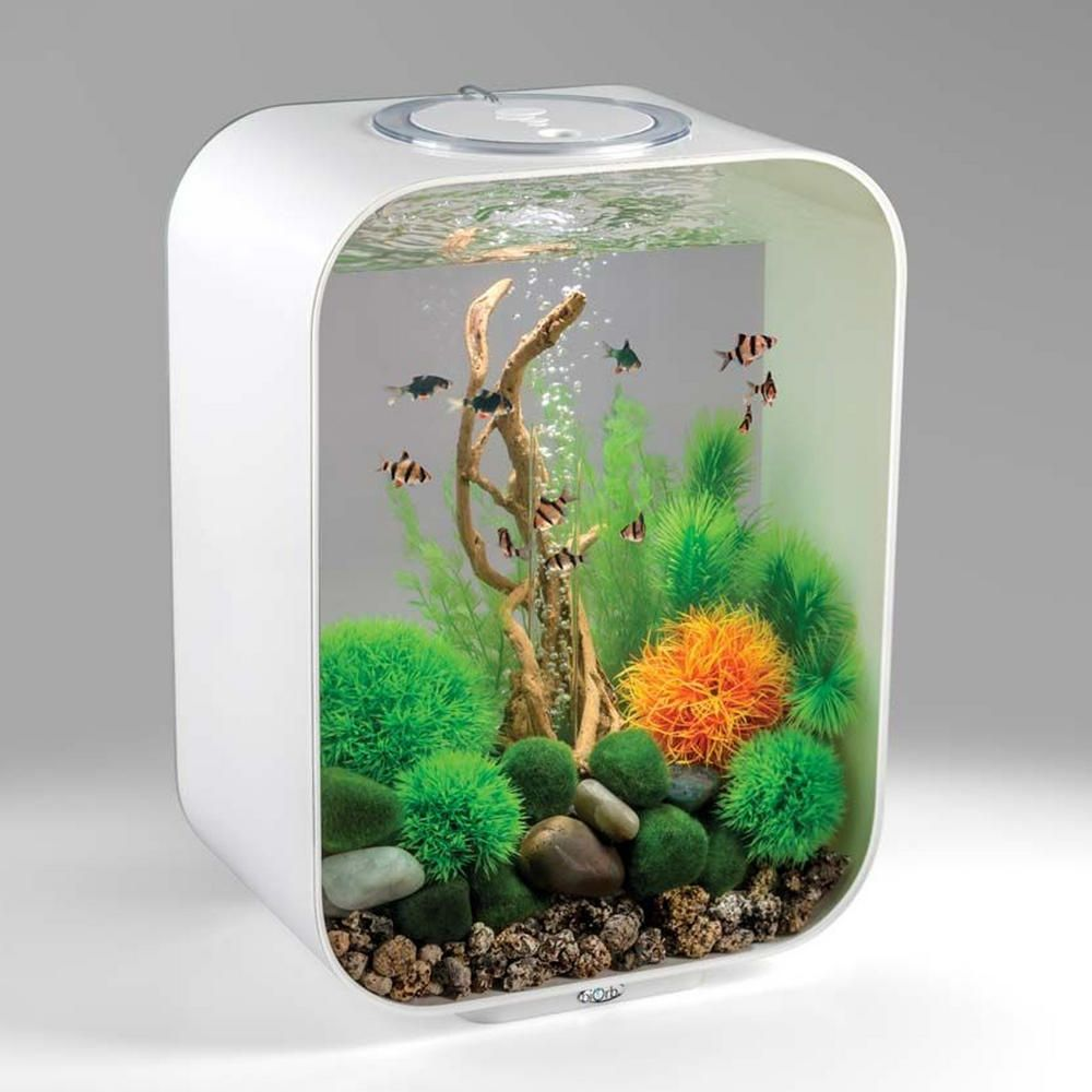 Biorb Life 15l White Fish Tank With Led Lighting Amp Heater