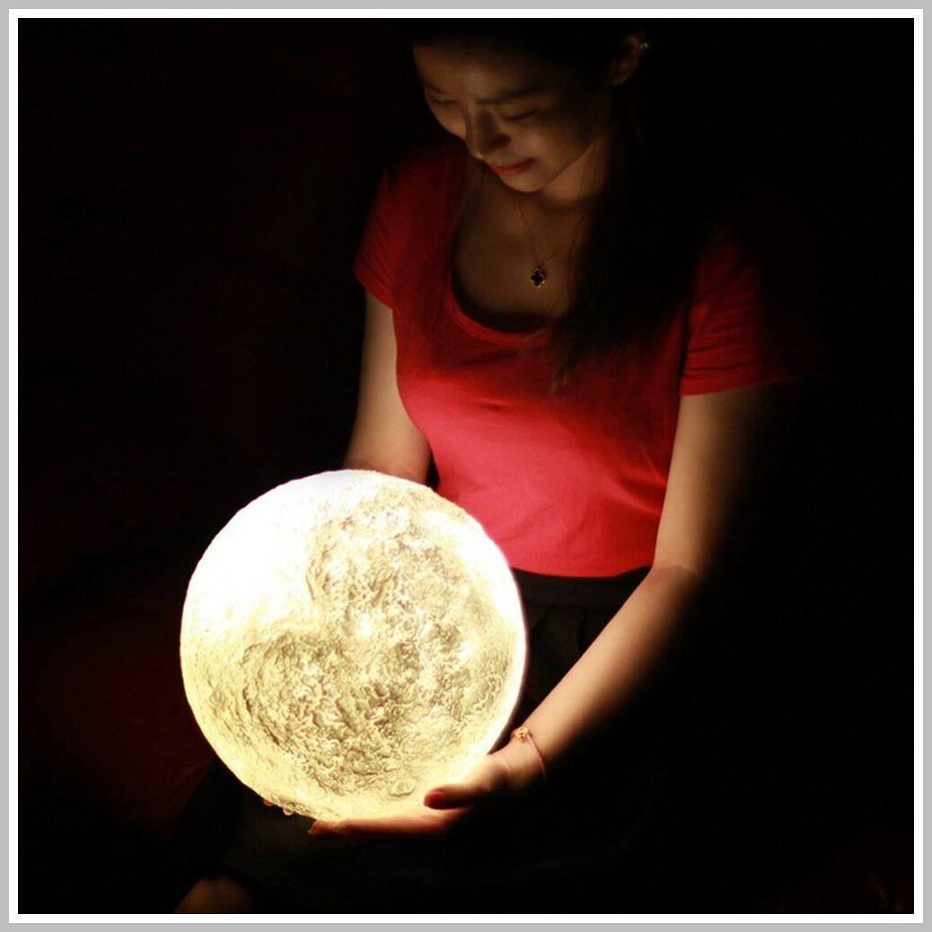Personalized 3d Print Moon Lamp Photo Lamp Custom Photo Girl First Birthday