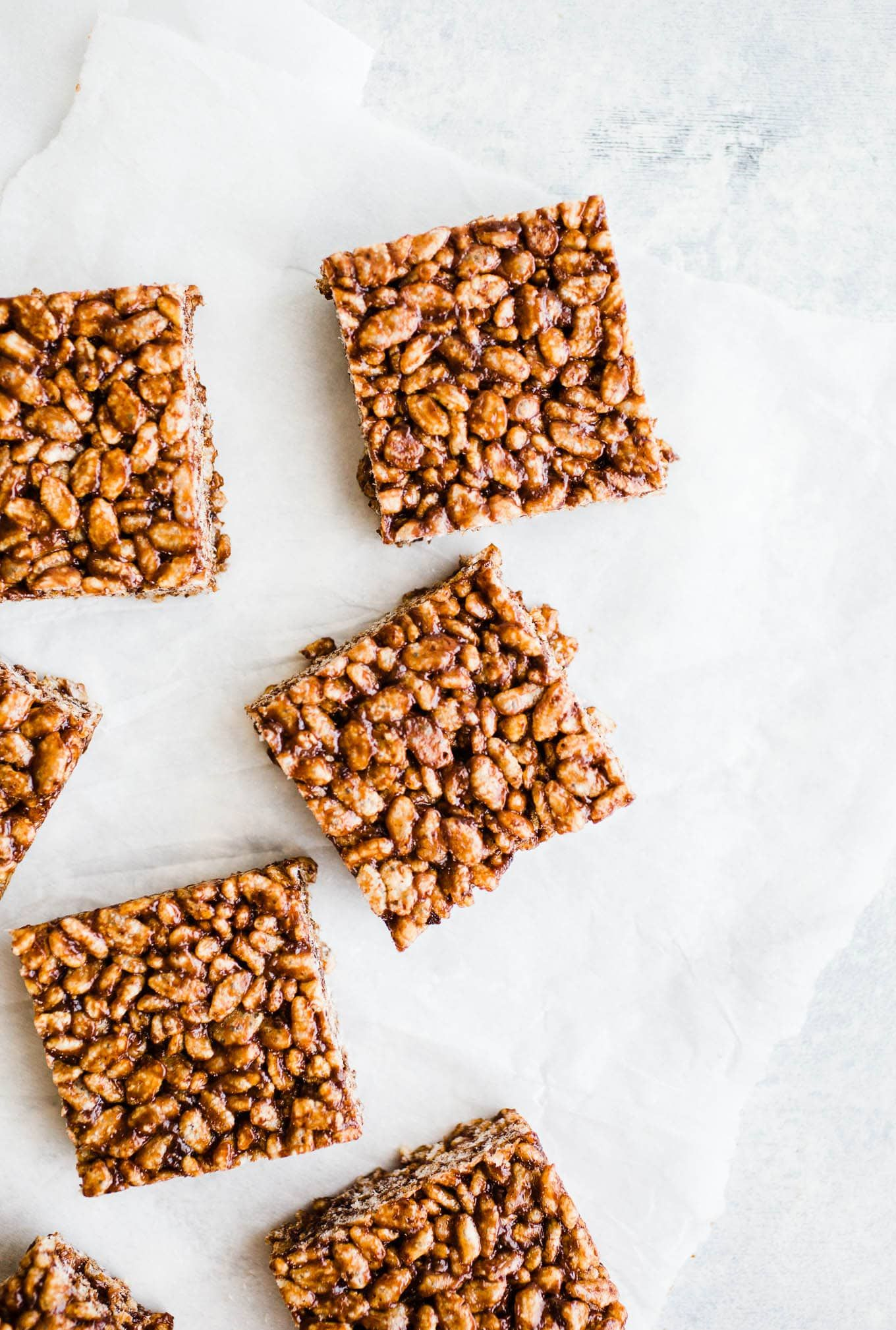These Chocolate Rice Crispy Treats are made with brown