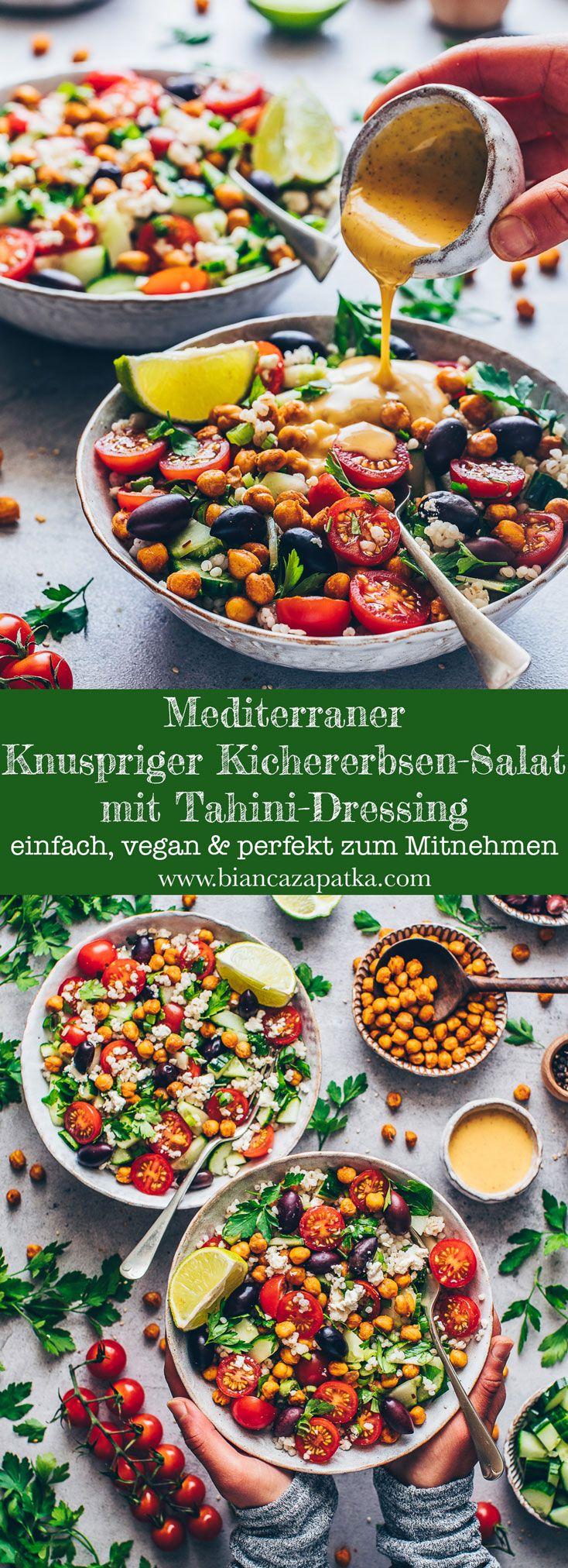 Mediterraner Kichererbsen Salat | Einfach, Vegan – Bianca Zapatka | Rezepte