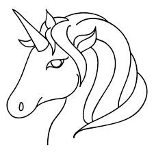 Resultado De Imagen Para Cabeza De Unicornio Para Imprimir Unicornio Pintar Dibujos De Unicornios Unicornio Colorear