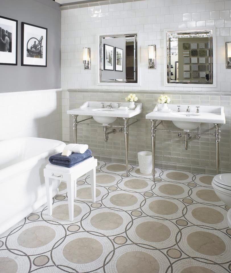 Renaissance Tile  Bath Nest wall tile galaxy floor mosaic