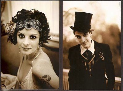 1920s Magician-themed wedding. Win.