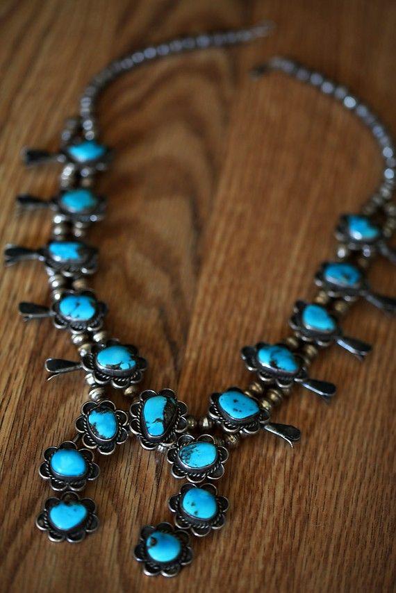 Squash blossom necklace.