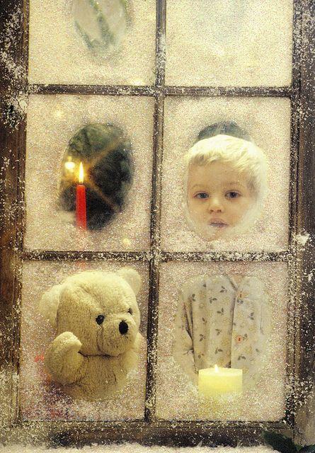 Untitled Santa, Window and Christmas eve