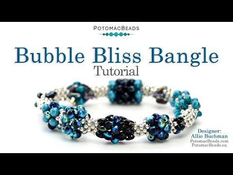 Photo of Bubble Bliss Bangle – DIY Jewelry Making Tutorial by PotomacBeads