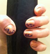 Photo of purple leopard  Nail Art Gallery by NAILS Magazine
