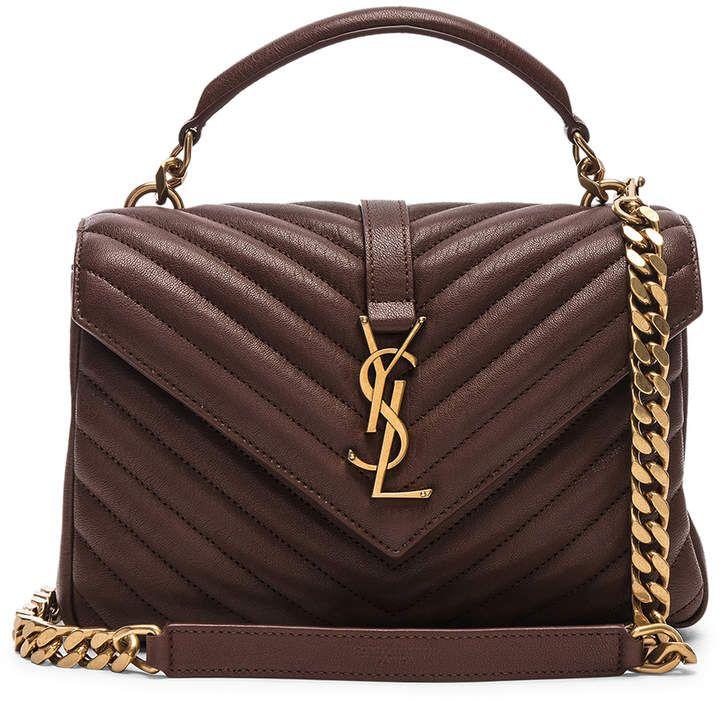 34591dd7775 YSL Saint Laurent Medium Monogramme College Bag (brown color: Old Brandy)