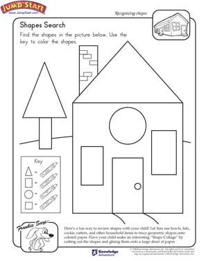 2-D Shapes: Fill in the Table | Worksheet | Education.com
