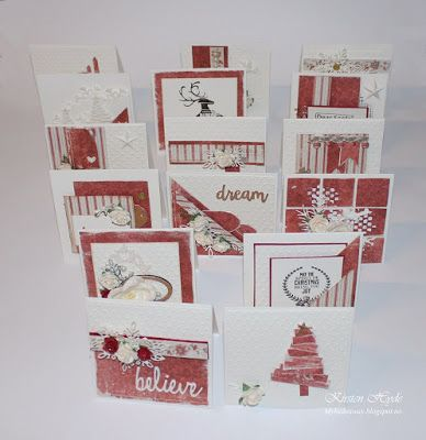 One Sheet Wonder 16 Christmas Cards From One Patterned Paper