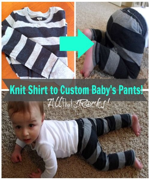 Take a cheap Knit Shirt and turn it into custom baby pants!