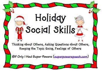 Holiday Social Skills Social Skills Social Skills Lessons Social Skills Activities