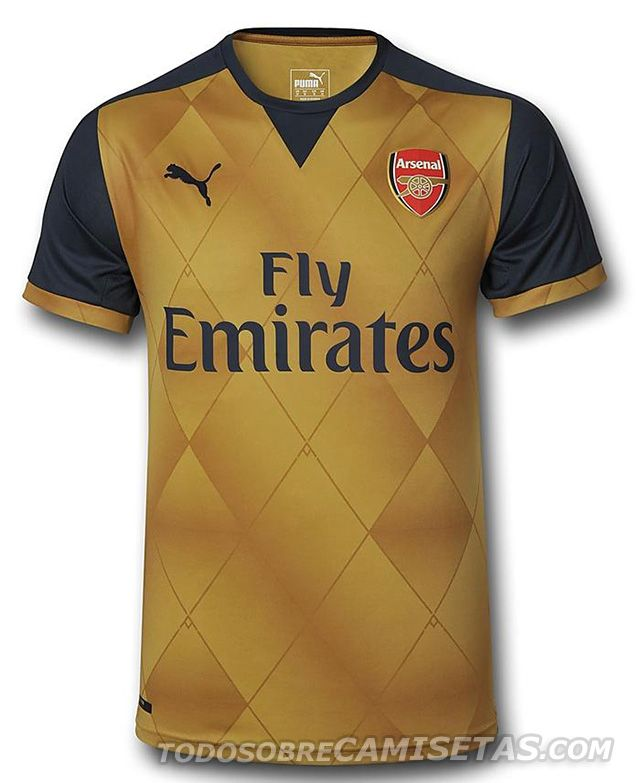 1bdc6d67f1741 Arsenal Puma 15 16 Away Kit Maillot De Foot Arsenal