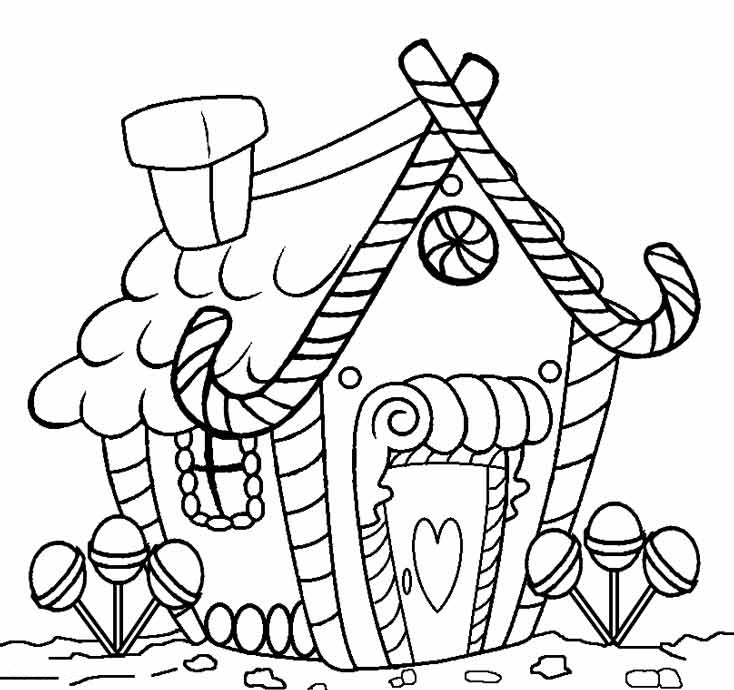 11 Casas De Caramelo Y Gominolas Para Colorear Bebeazul Top Gingerbread Man Coloring Page House Colouring Pages Christmas Coloring Pages