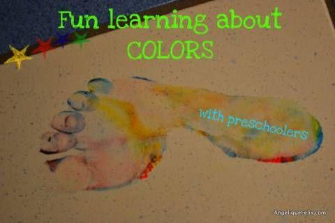 These are COLORS - preschool activities / Dit zijn de kleuren - peuter, kleuter activiteit | AngeliqueFelix.com - The Magic of Play