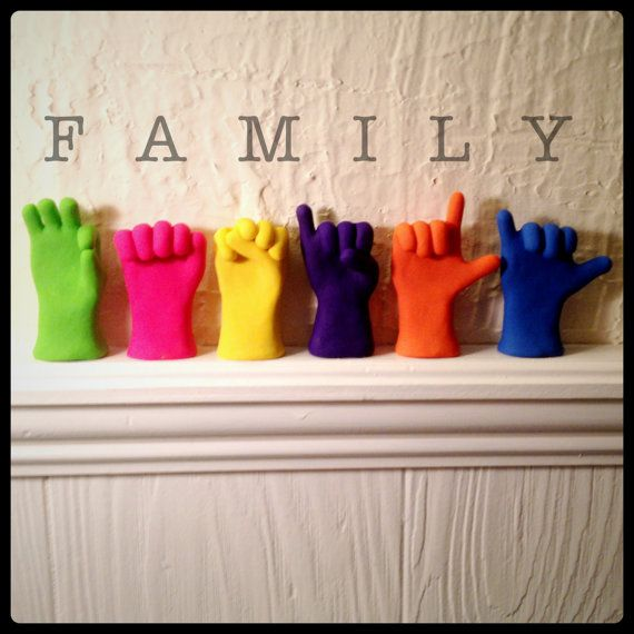 Six Letter ASL Word or Name Hand Sculptures   Any 6 Letters in