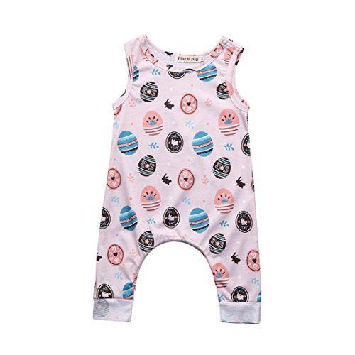 49975171e8d Winsummer Cute Newborn Baby Boy Girl Easter Eggs Romper Bodysuit Outfits  Spring Summer Tee Jumpsuit (
