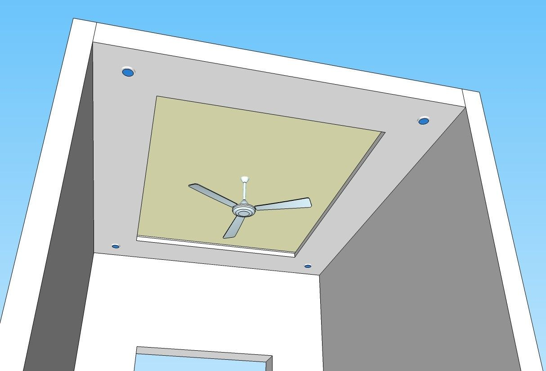Simple False Ceiling Design In Gypsum Board. #civillane ...