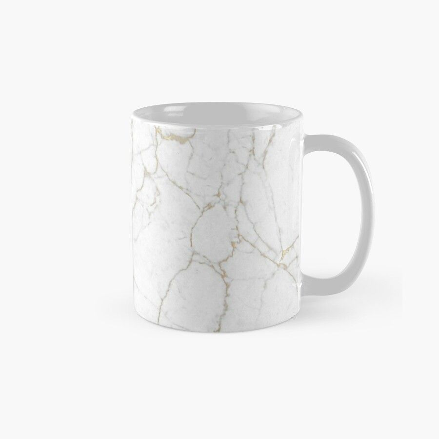 White Marble Texture Floor Background With Gold Veins Intrusions Greek Marble Print Luxuous Real Marble – Ceramic 11Oz Coffee Mug – Gift Idea For Family And Friends #whitemarbleflooring
