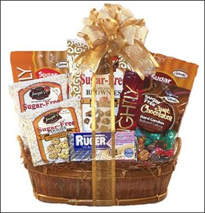 This baskets makes the perfect gift for any diabetic with a sweet this baskets makes the perfect gift for any diabetic with a sweet tooth chock gourmet gift basketsgourmet giftsfree itemsfree giftssugar negle Choice Image