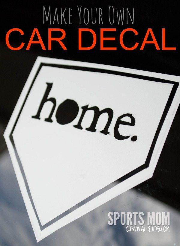 Diy fun make your own car decals