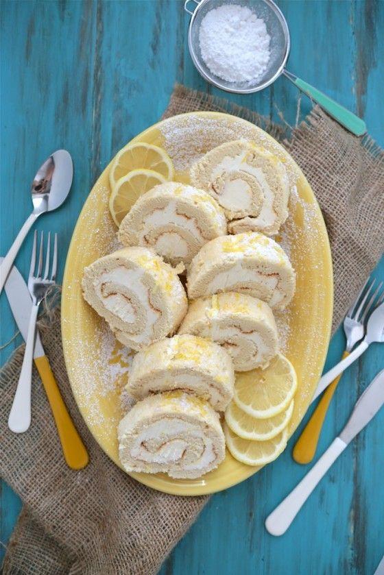 Lemon Roll Cake #rollcake
