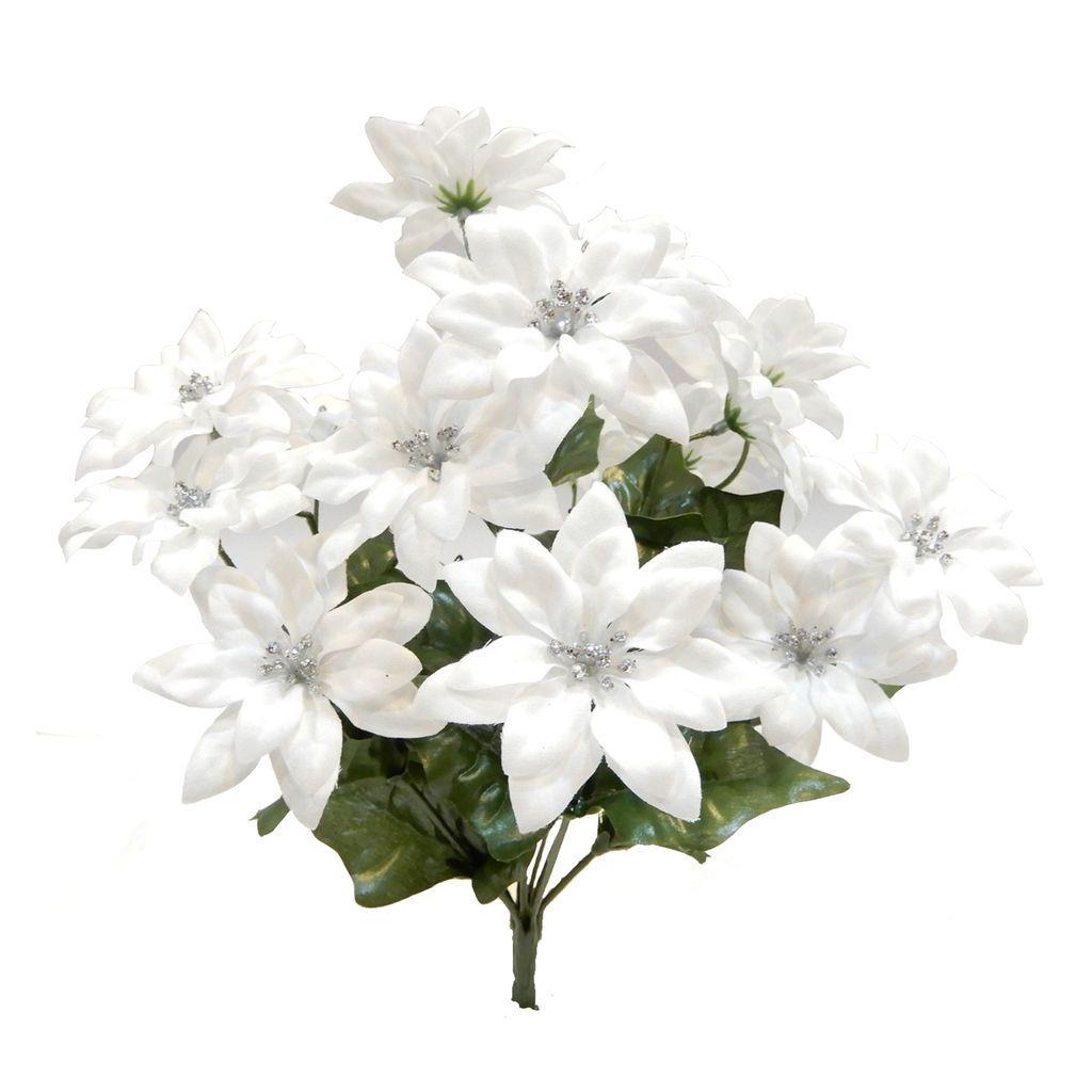 Buy The Mini White Poinsettia Bush By Ashland At Michaels Com
