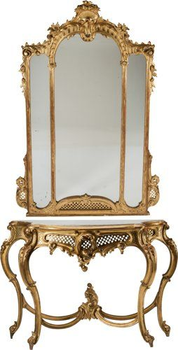 Rococo Style Giltwood Console