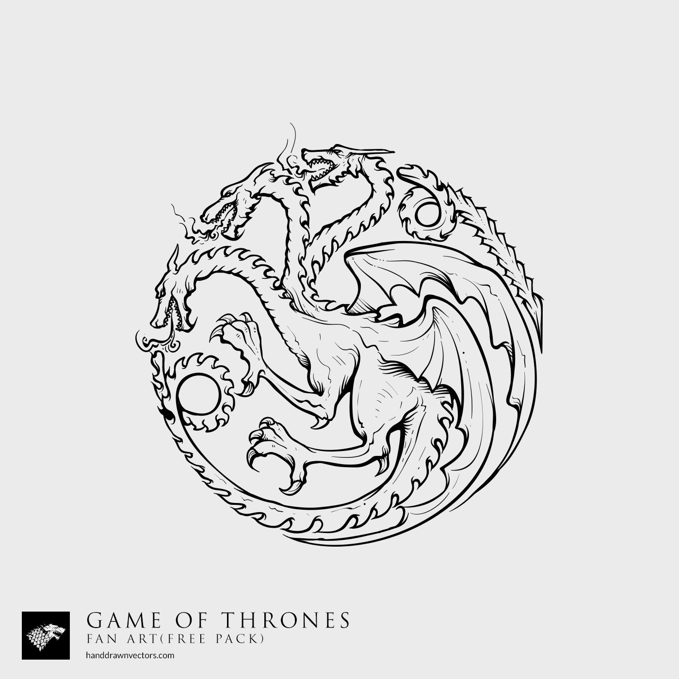 Illustrated Game of Thrones Vector Elements, the ...