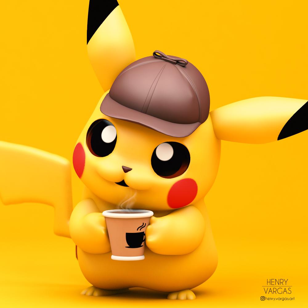 Artstation Detective Pikachu Henry Vargas Pikachu Art Pikachu Cute Pokemon Wallpaper