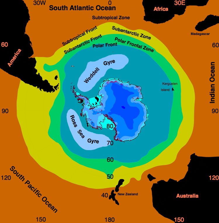 Oceanographic Frontal Systems In The Southern Ocean Oceanography Southern Ocean Ocean