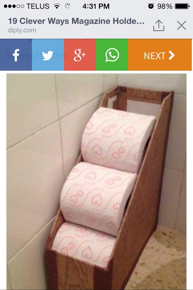 Tp Organizer Diy Home Projects Badezimmer Aufbewahrung Bad
