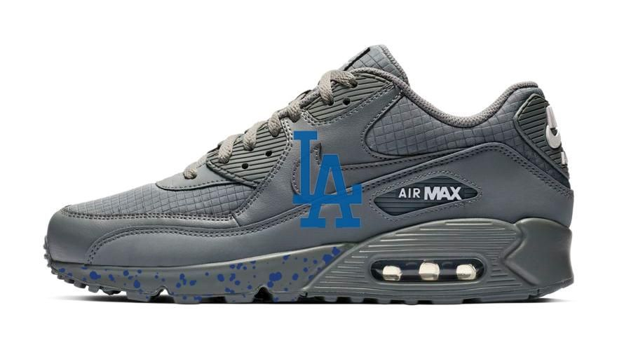 Print Custom Grey Nike Air Max Shoes