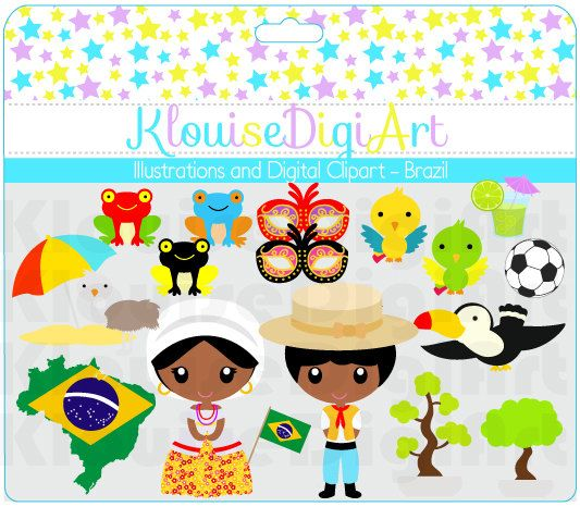 BUY 2 GET 1 FREE Cute Clip Art Dolls Dolls of by KlouiseDigiArt, $2.00